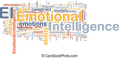 emotioneel, concept, achtergrond, intelligentie
