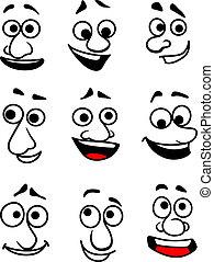 emotioneel, gezichten