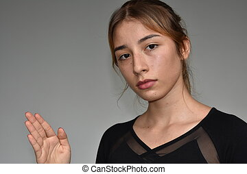 Emotionless Teenager Girl