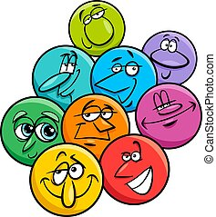 emotions characters cartoon illustration group