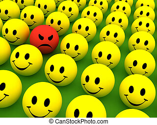Emotions - Colourful smilie icons representing different...