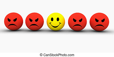 Emotions - Colourful smilie icons representing different ...