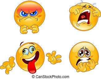 Emotions emoticons - Set of emoticons