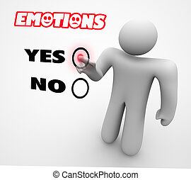 Emotions Feelings Experiences Person Choosing Choice 3d Illustration