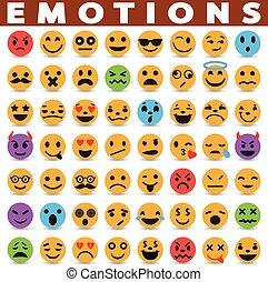 Emotions icons set