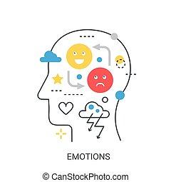 Emotions vector illustration concept.