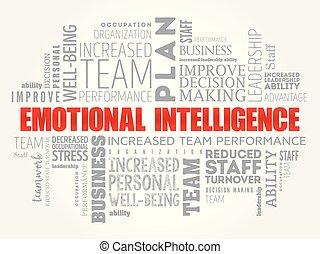 emotivo, parola, nuvola, intelligenza