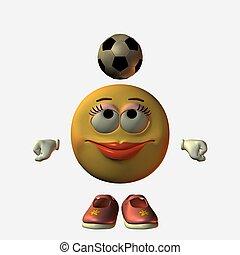 emotiy, girl-football