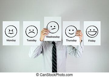 emozione, lavoro, settimanale