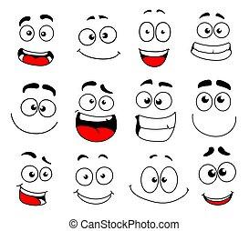 emozione, smiley fronteggiano, icona, emoticon, emoji