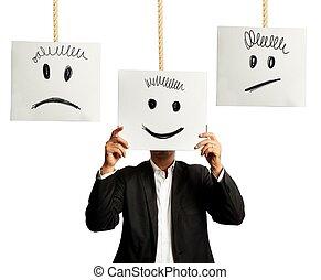 emozioni, in, affari