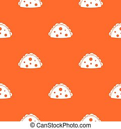 Empanada, cheburek or calzone pattern seamless - Empanada, ...