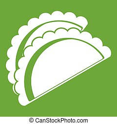 Empanadas de pollo icon green