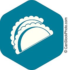 Empanadas de pollo icon, simple style