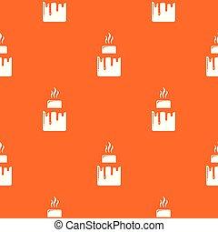 Empanadas pattern vector orange for any web design best