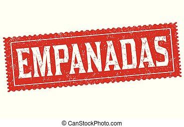 Empanadas sign or stamp on white background, vector ...