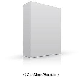 empaquetado, caja, blanco