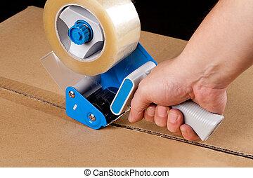 empaquetado, dosificador, cinta
