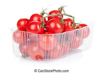 empaquetado, tomates cereza