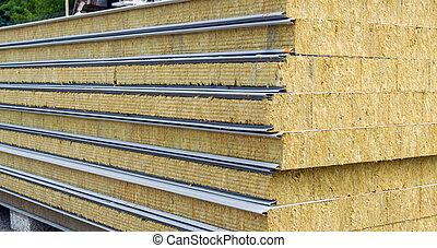 emparedado, panel, para, pared