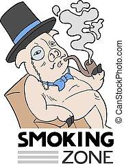 empate, divertido, zona, fumar