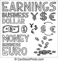 empate, finanzas, empresa / negocio, dinero, dólar,...