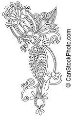 empate, flor, arte, ucranio, estilo, mano, tradicional,...