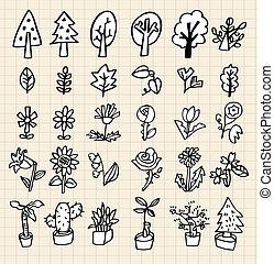 empate, mano, árbol, icono