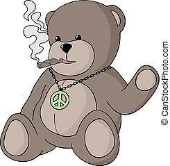 empate, oso, pacifista