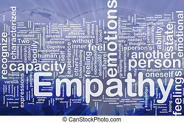 Empathy background concept - Background concept wordcloud...