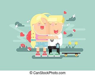 Empathy boy and girl