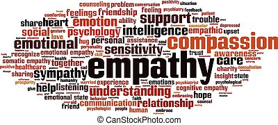 Empathy word cloud concept. Vector illustration