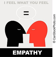 Empathy icon. - Simple flat vector illustration of two human...