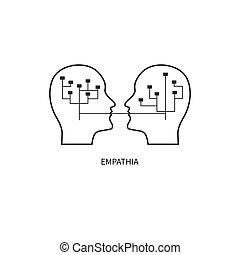 Empathy line icon - Empathy icon. Ppsychologist, ...