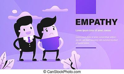 Empathy. Presentation Background with Concept Illustration.