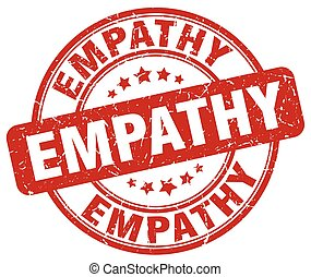 empathy red grunge stamp