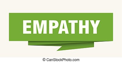 empathy sign. empathy paper origami speech bubble. empathy ...