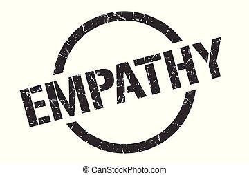 empathy stamp - empathy black round stamp