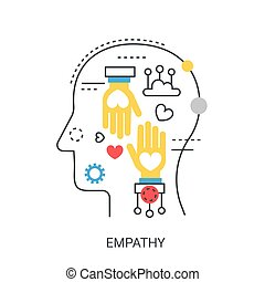 Empathy vector illustration concept.