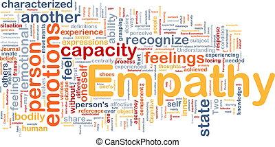 empatia, fondo, concetto