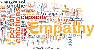 empatia, fundo, conceito