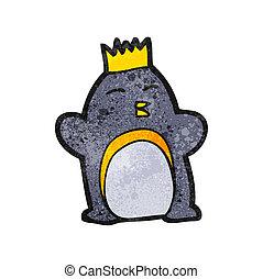 emperador, caricatura, pingüino