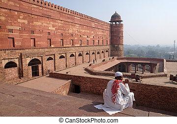 emperador, fatehpur, histórico, sikri, uttar pradesh, ciudad...