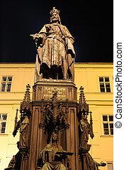 Emperor Charles Statue - Emperor Charles Bridge in Prague,...