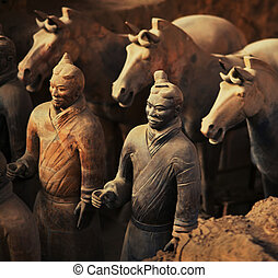 Warriors and Horses - Emperor Qin's Terra-cotta Warriors and...