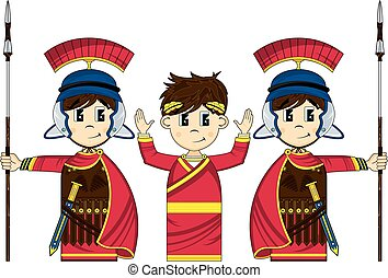 Emperor & Roman Centurion Guards