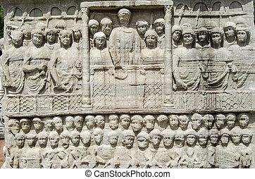 Emperor Theodosius sculpture, Istanbul