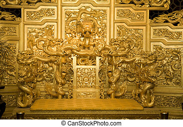 Emperor's Throne China - Reproduction of Chinese Emperor's ...