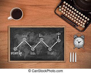 empezar para arriba, diagrama