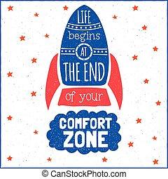 empieza, vida, moderno, zona del final, diseño, comodidad, ...